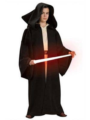 Boy's Star Wars Sith Robe Dark Side Costume Front View
