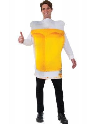 Men's Funny Yellow Beer with Froth Oktoberfest Costume