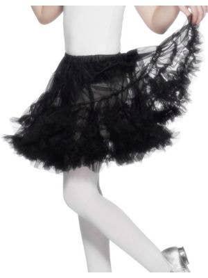 Ruffled Black Girls Petticoat