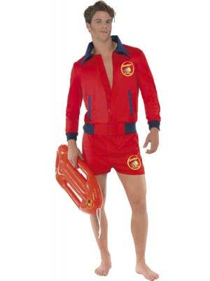 Deluxe Baywatch Men's Lifeguard Costume Front View