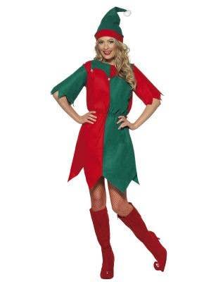 Women's Miss Santa Budget Christmas Dress Up Costume Main