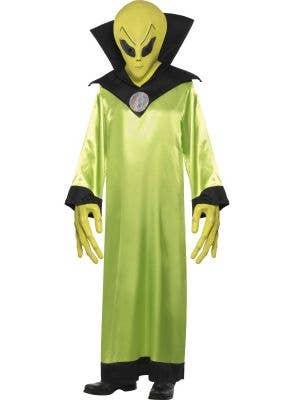 Mens Alien Green Space Fancy Dress Costume - Main Image
