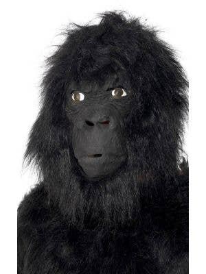 Faux Black Fur Gorilla Adults Costume Mask