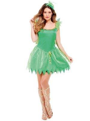 Woodland Fairy Women's Sexy Green Tinkerbell Costume Main Image