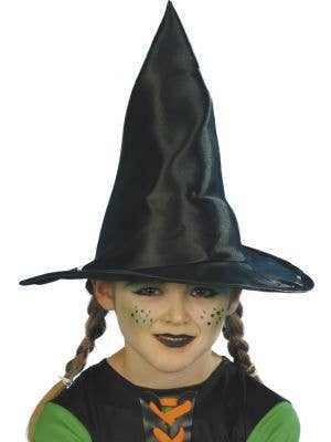 Charming Kid's Black Witch Hat