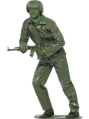 Men's Green Toy Soldier Army Costume Front