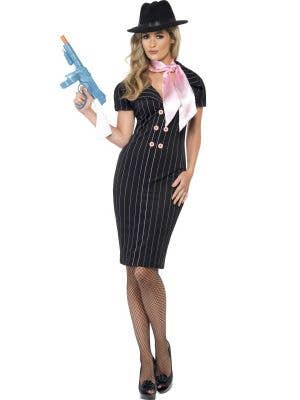 Women's Sexy Gangster Moll 1920's Dress Up Costume Front