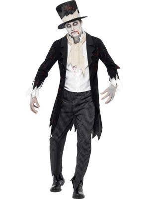 Men's Zombie Groom Halloween Fancy Dress Costume Front
