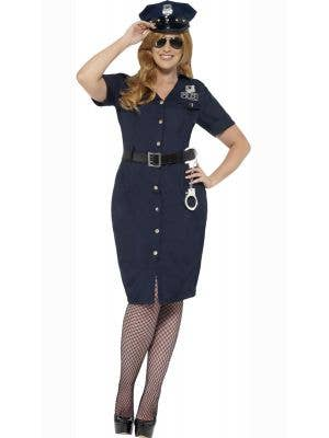 Women's NYC Cop Plus Size Costume Front View