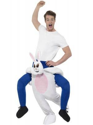 Piggyback Easter Bunny Adult's Fancy Dress Costume