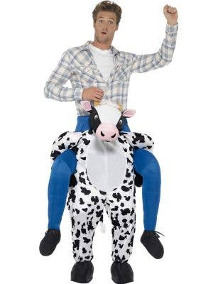 Adult's Cow Piggy Pack Novelty Fancy Dress Costume Front