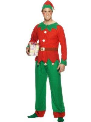 Festive Men's Budget Christmas Elf Costume