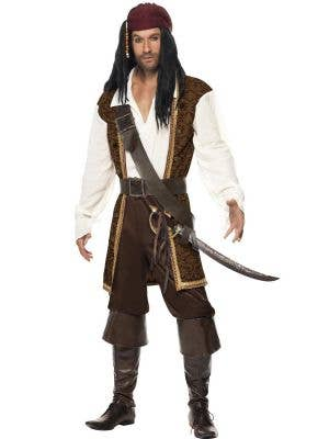 Men's Jack Sparrow High Seas Pirate Costume Front