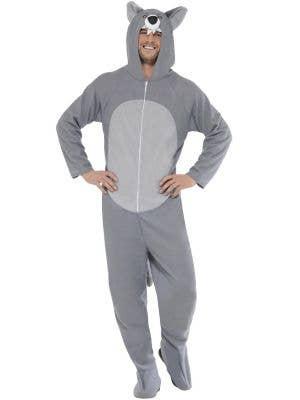 Grey Wolf Adult's Animal Onesie Fancy Dress Costume