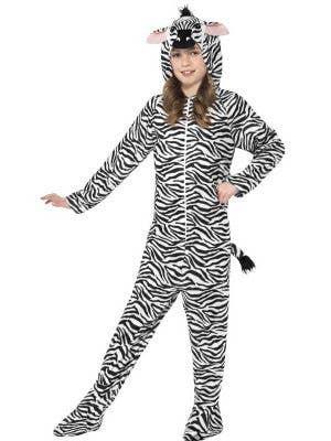 Zebra Onesie Kids Comfy Animal Costume