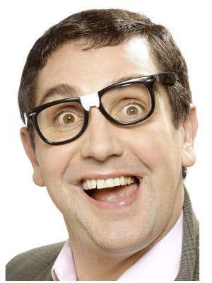 Thick Black Geek Costume Glasses with Plaster