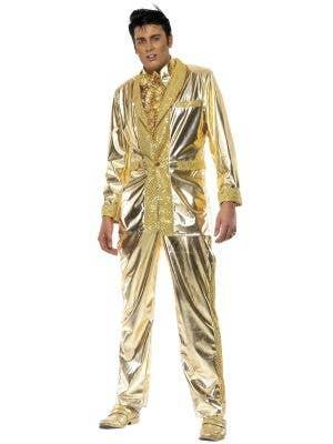 Elvis Presley Gold Suit Men's Costume