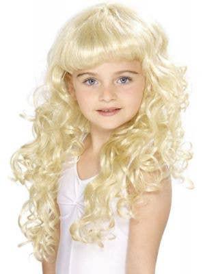 Princess Girls Blonde Curly Wig