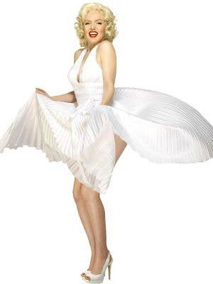 Deluxe Women's White Marilyn Monroe Costume Dress Front
