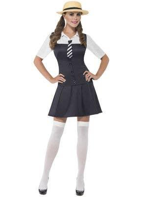 Women's Preppy School Girl Costume Front Image
