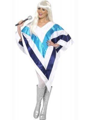 Super Trooper Women's White Poncho Costume Main Image