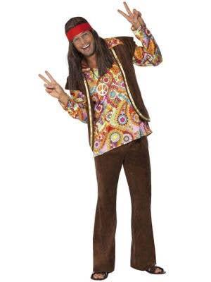 Psychedelic Hippie Men's 1960's Costume