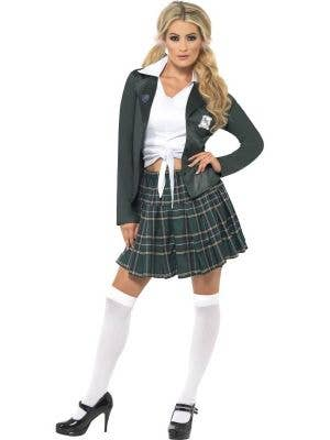 Womens Britney Spears Baby One More Time Sexy School Girl Costume - Main Image