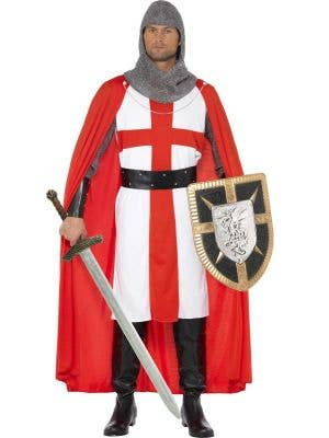 Medieval Knight Men's Historical Fancy Dress Costume Front