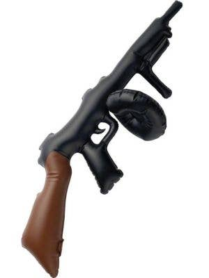 Novelty Inflatable Black 20's Tommy Gun Costume Weapon