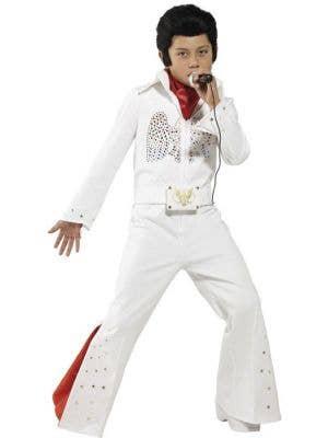 Boy's Elvis Presley Rock Singer Celebrity Fancy Dress Costume Front
