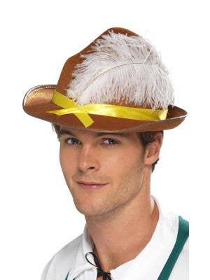 German Adult's Brown Bavarian Oktoberfest Costume Accessory Hat