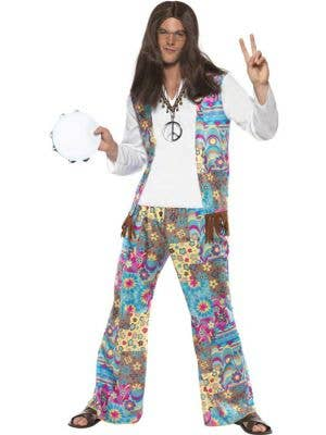 Groovy Hippie Men's 70's Fancy Dress Costume