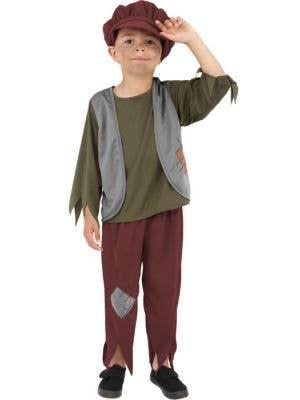 Victorian Peasant Boy's Oliver Twist Book Week Costume Front
