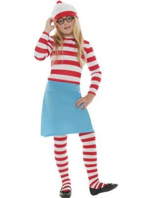 Girl's Where's Wally Book Week Costume Front View