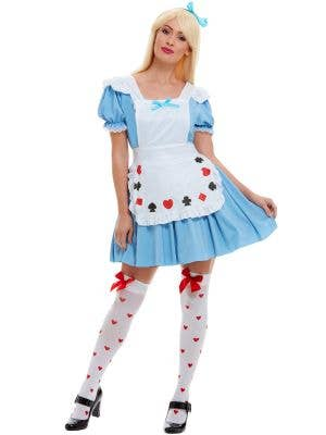 Womens Deck of Cards Alice in Wonderland Costume - Main Image