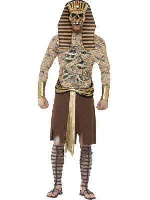 Men's Zombie Egyptian Pharaoh Halloween Costume Front
