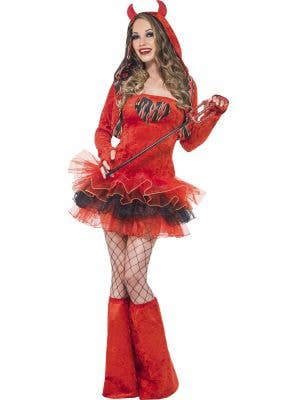 Sexy Red Devil Women's Halloween Costume Main Image