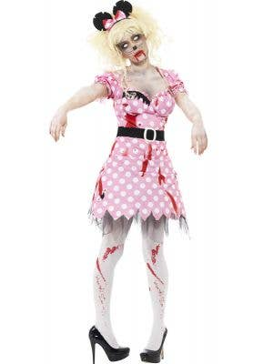 Zombie Rodant Women's Dead Minnie Mouse Costume Front View