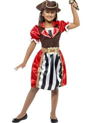 Girl's Pirate Captain Costume Front View