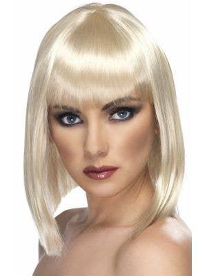 Smiffys Sort Glam Blonde Costume Wig - Main Image