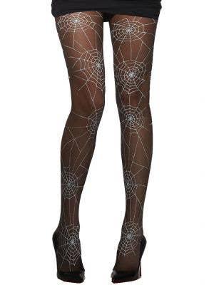 Black Spiderweb Women's Gothic Halloween Tights