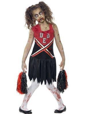 Cheerleader Girl's Zombie Costume Front View