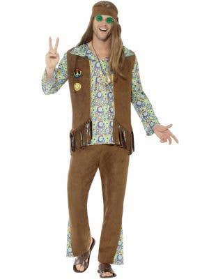 Hippie Men's Groovy 60's Fancy Dress Costume