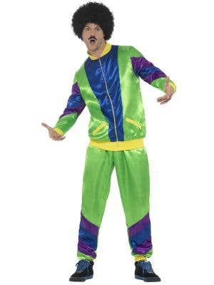 Height Of Fashion Men's 1980's Green Tracksuit Costume