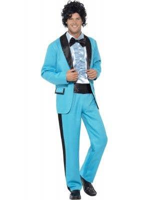 Prom King Men's Powder Blue 80's Tuxedo Fancy Dress Costume
