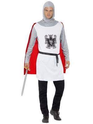 Renaissance Men's Noble Knight Medieval Fancy Dress Costume Front View