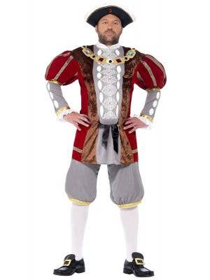 Men's King Henry VIII Tudor Deluxe Fancy Dress Costume Front Image