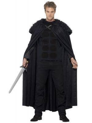Men's Fleece And Fur Barbarian Fancy Dress Costume Alt View