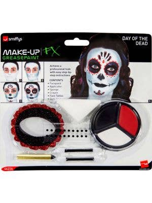 Day of the Dead Sugar Skull Costume Makeup Set - Main Image