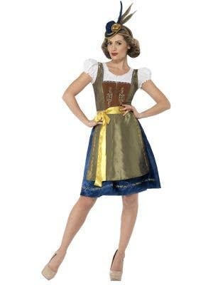 Women's Traditional Dirndl Beer Girl Costume Front View